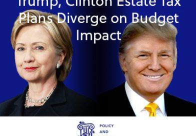 Trump, Clinton Estate Tax Plans Diverge on Budget Impact
