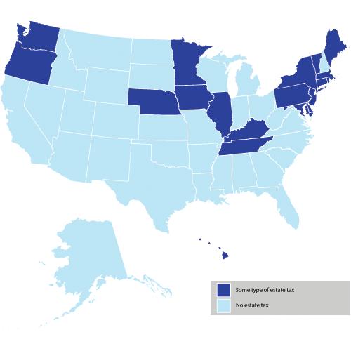 2017 State Death Tax Chart