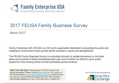 Family Businesses Survey Reveals Strengths, Challenges Ahead