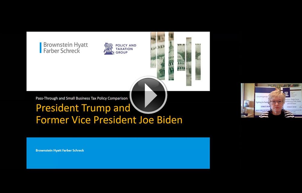 VIDEO: Pass Through and Small Business Legislation Under Trump or Biden