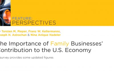 Importance of Family Businesses' Contribution to the U.S. Economy