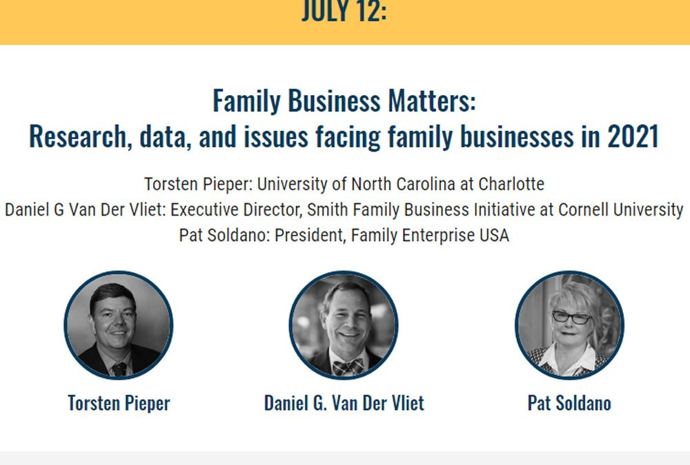 Pat Soldano Speaking at Family Firm Institute July 12